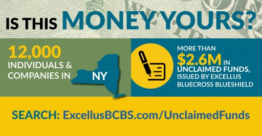 "Excellus BlueCross BlueShield Looking for Owners of ""Unclaimed Funds"""
